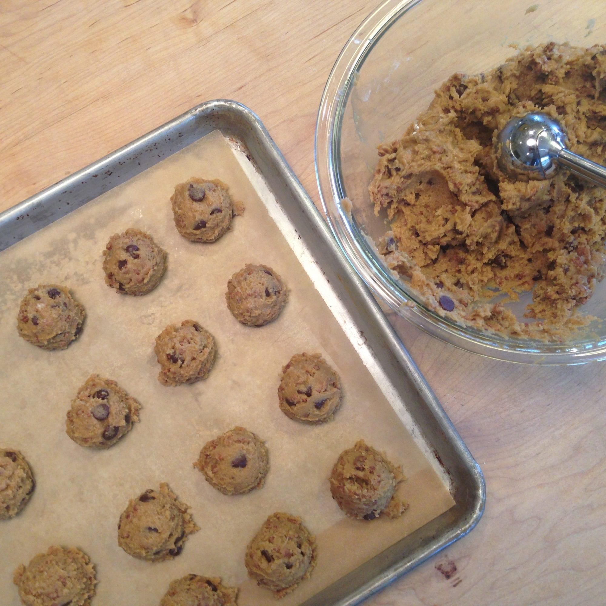 Scooping Cookie Batter Onto Baking Sheet   Jessie Sheehan Bakes