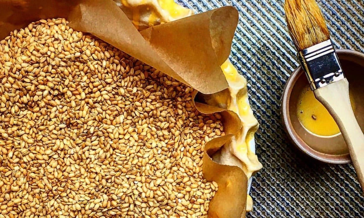 Pie Dough Weighed Down with Beans | Jessie Sheehan Bakes