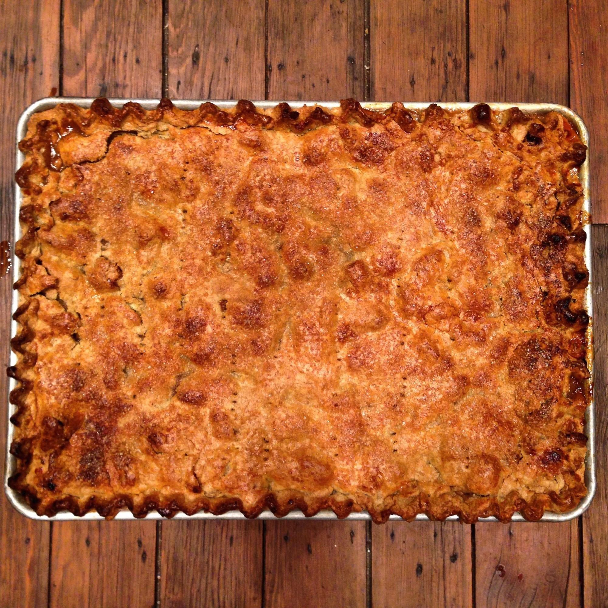 Apple Cherry Slab Pie