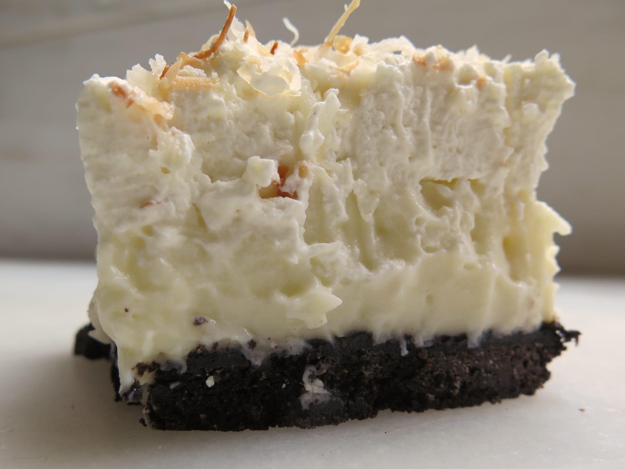 mile-high black-bottom coconut cream (sheet) pie