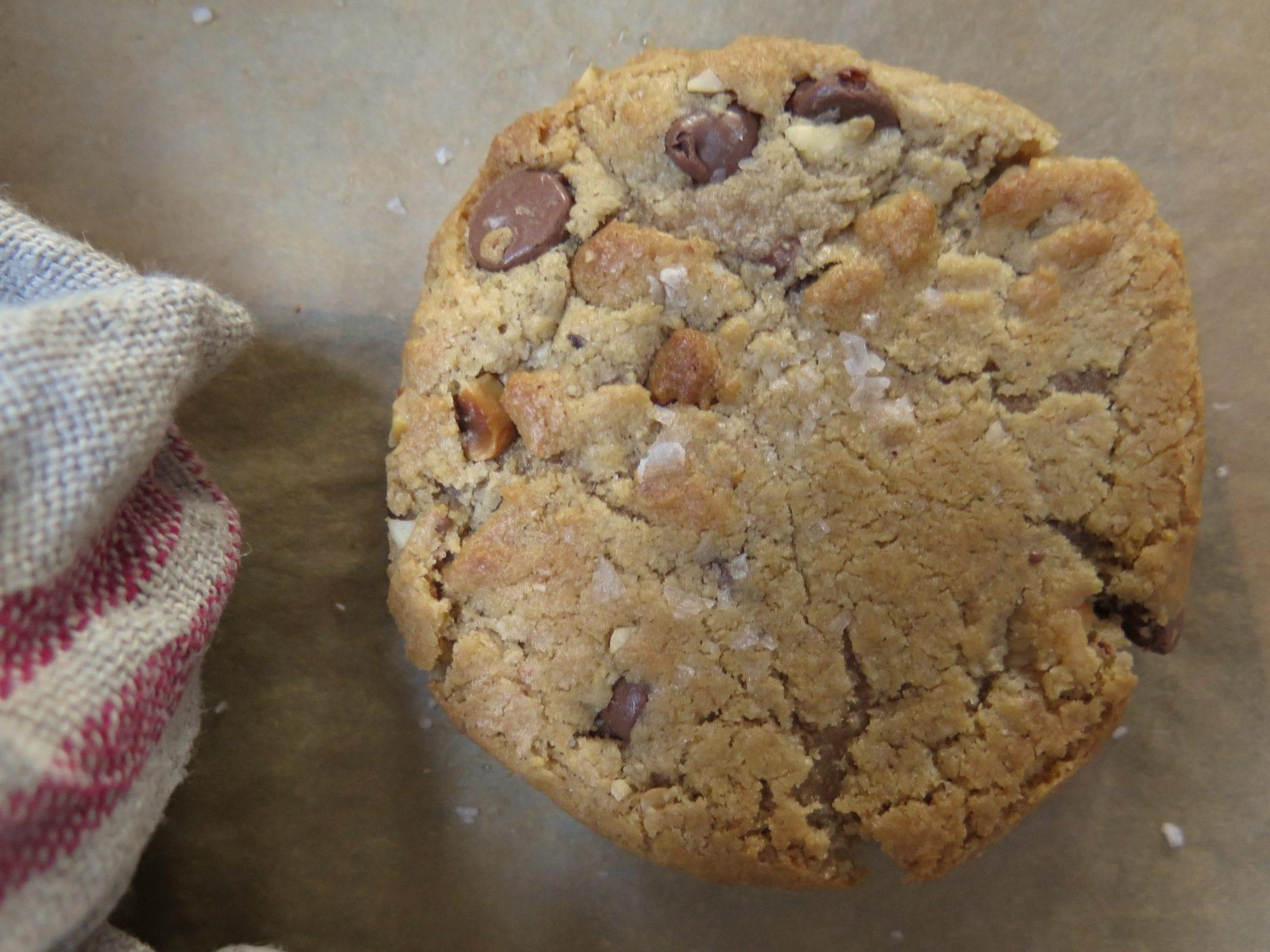 hazelnut butter milk chocolate chip cookies