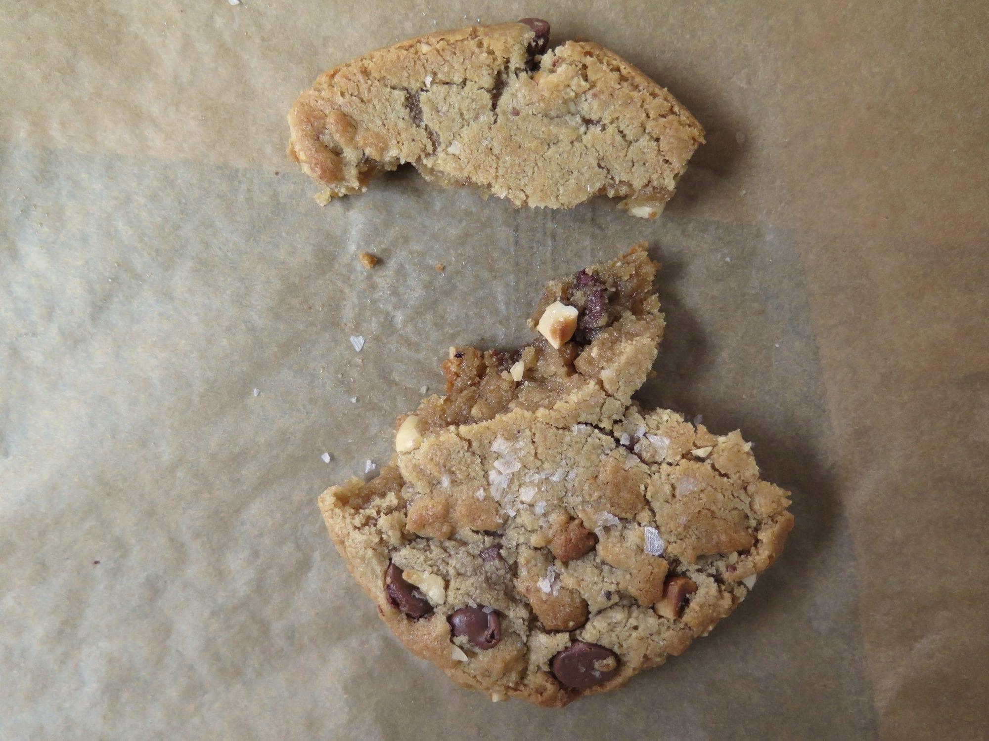 milk chocolate hazelnut cookie: yum