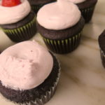 Chocolate Cupcakes with Strawberry Marshmallow Frosting | Jessie Sheehan Bakes