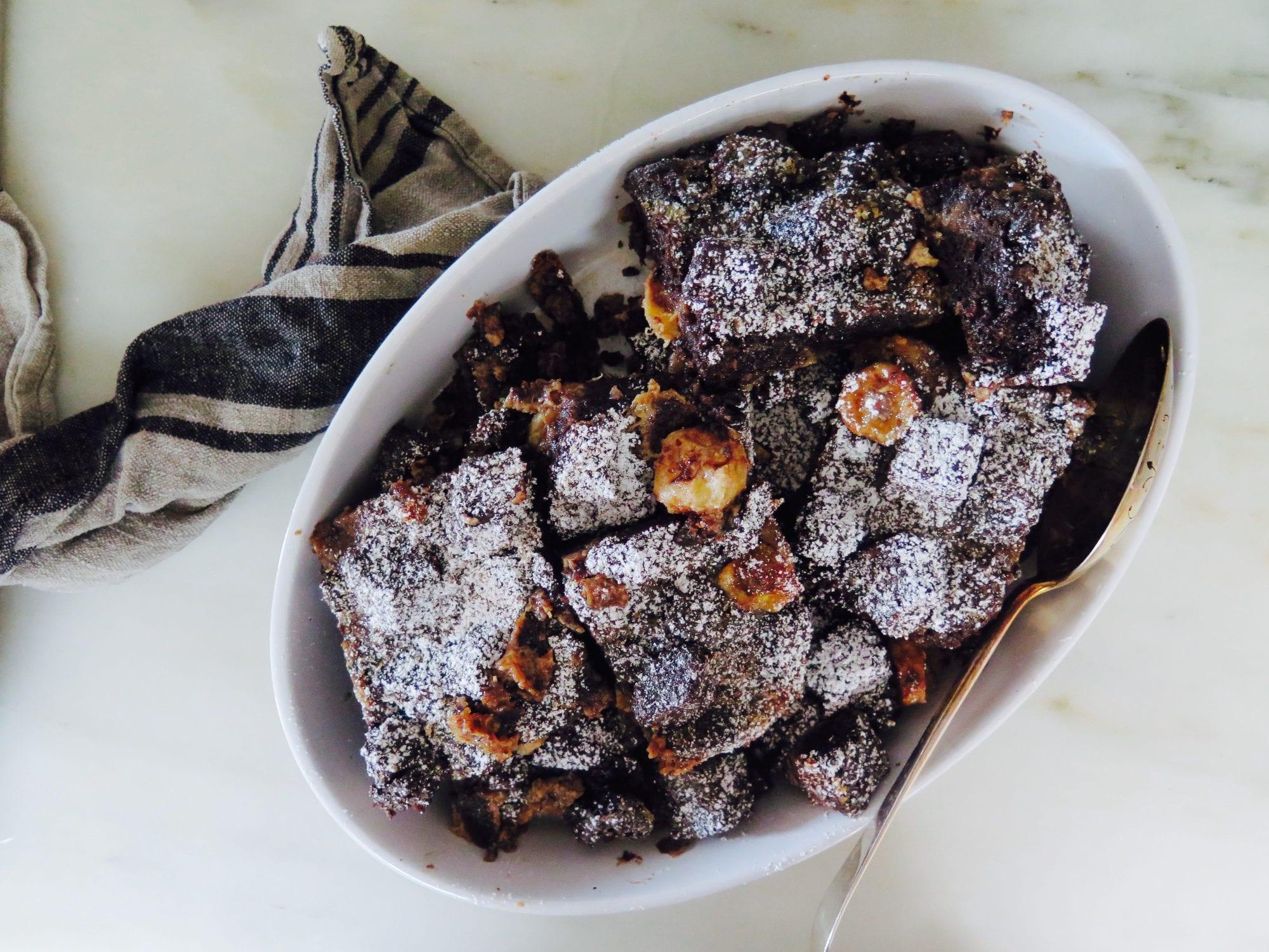 chocolate banana-bread bread pudding
