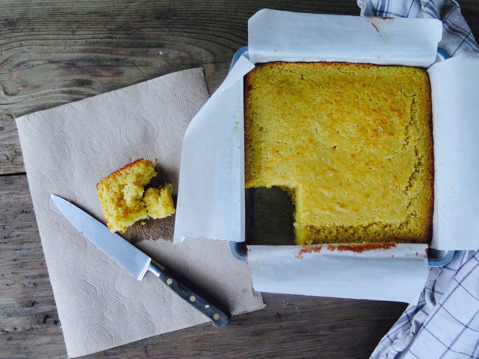 slice o' moist cornbread