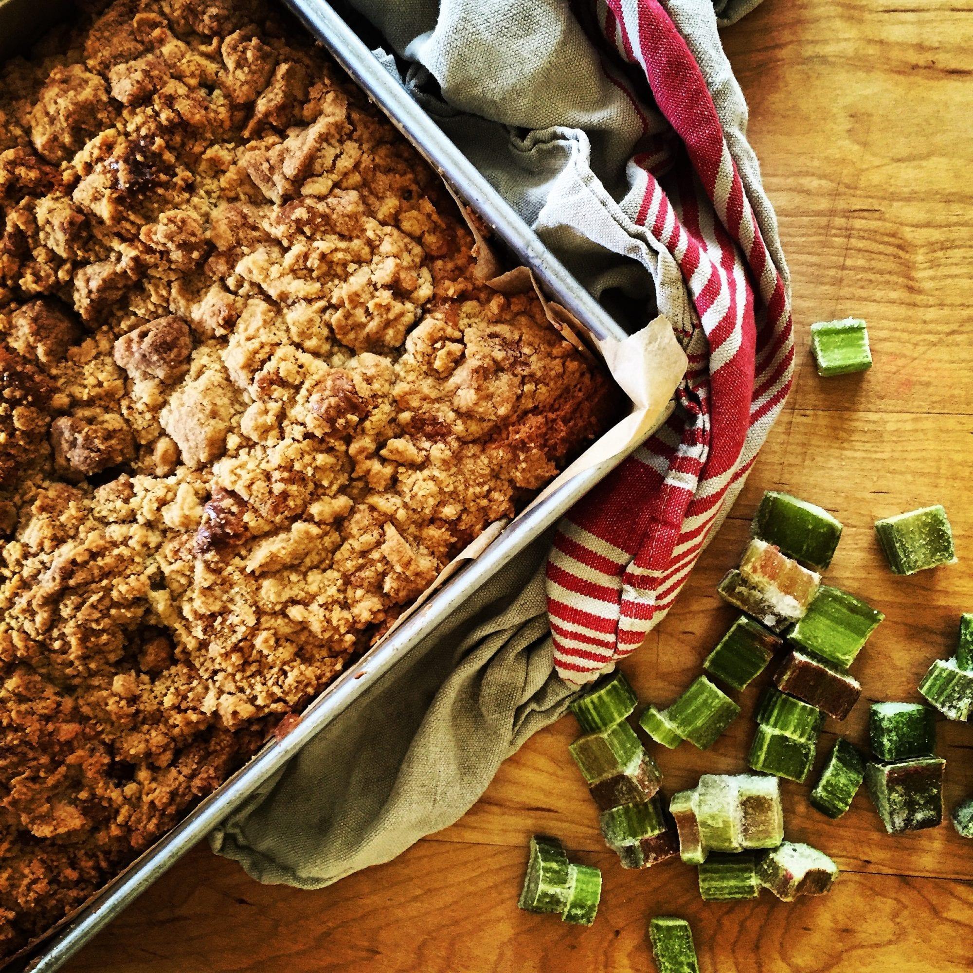 Rhubarb Crumb Cake Recipe | Jessie Sheehan Bakes
