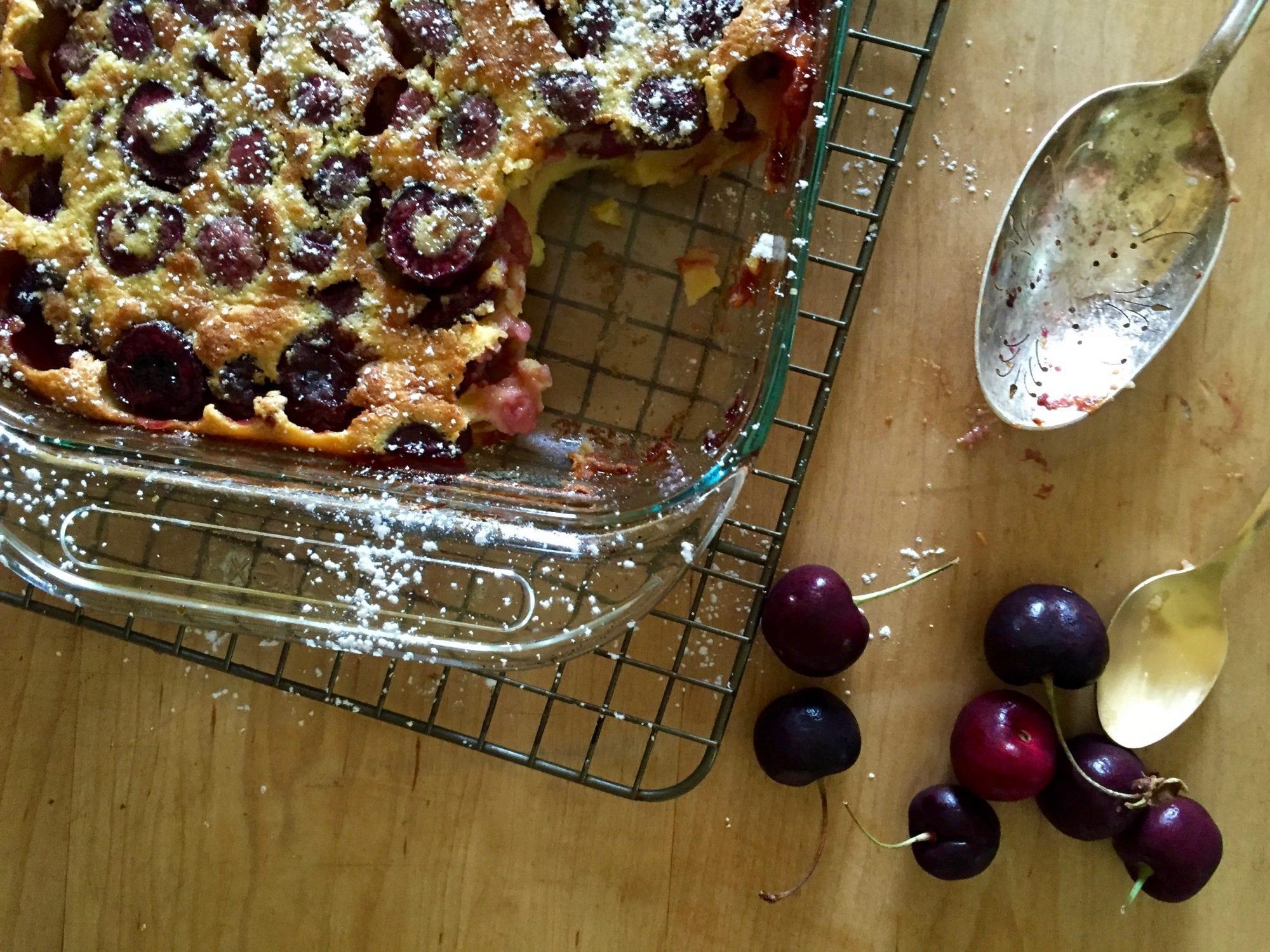 perfect cherry dessert = clafoutis