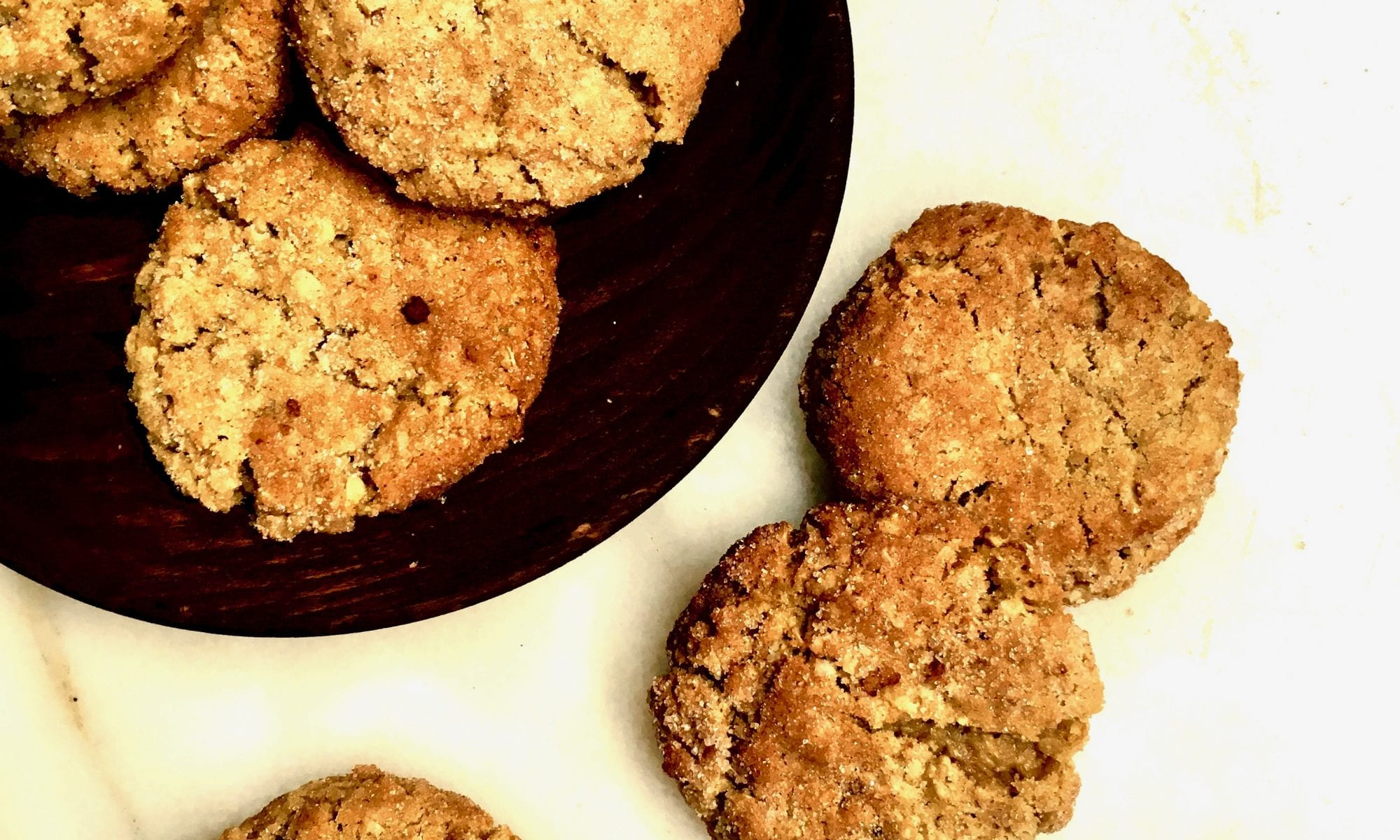 cinnamon sugar old-school oatmeal cookies