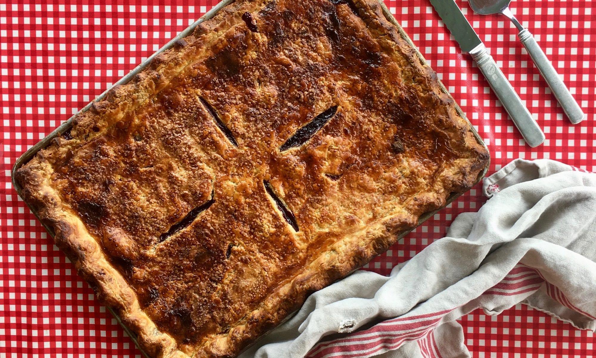 Blackberry-Lime Slab Pie Recipe | Jessie Sheehan Bakes