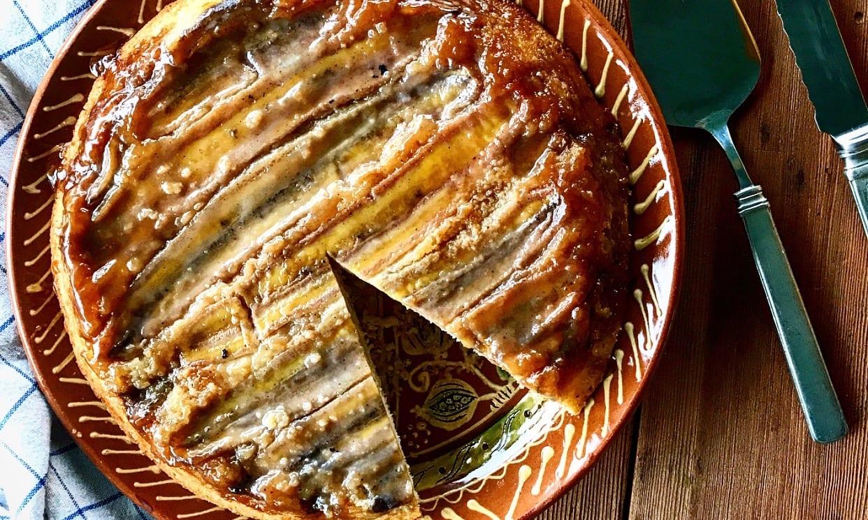 Banana Upside Down Cake | Jessie Sheehan Bakes