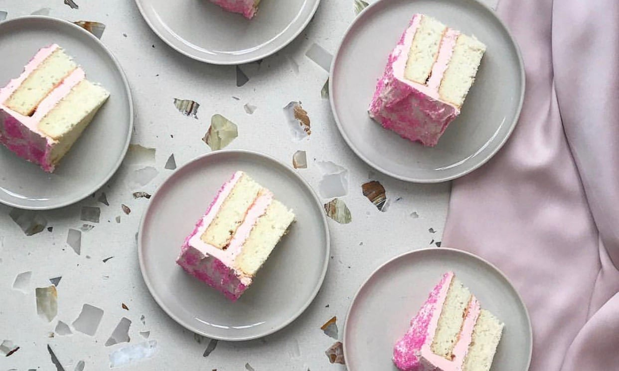 Silver Cake with Pink Frosting   Jessie Sheehan Bakes
