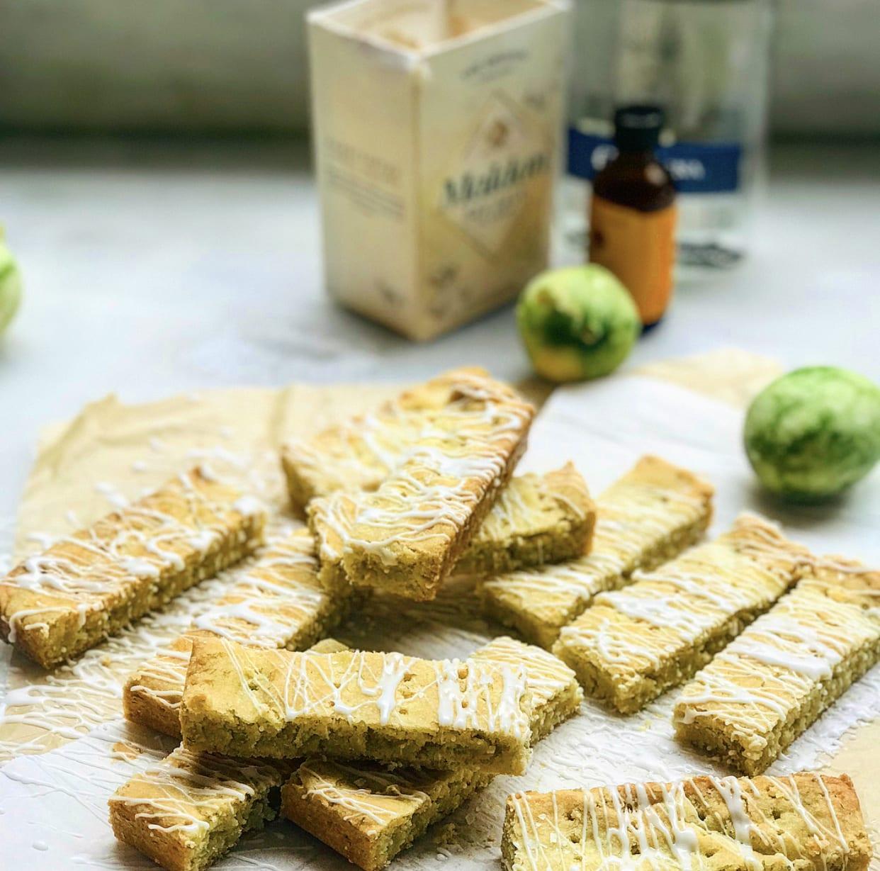 Margarita Shortbread Cookies with Orange Tequila Glaze   Jessie Sheehan Bakes
