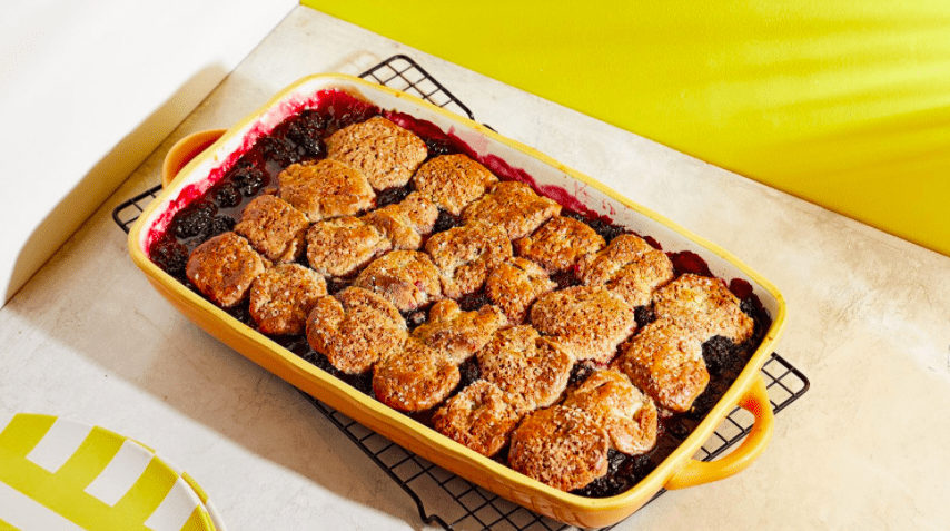 One-Bowl Blackberry Cobbler With Easy Cinnamon-Sugar Buttermilk Biscuits