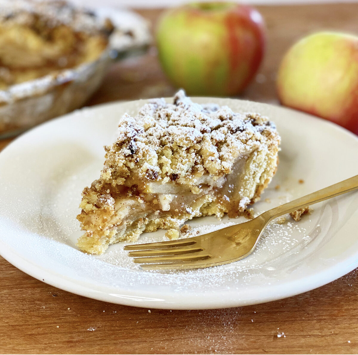 Apple Crumb Pie with Olive Oil Crust | Jessie Sheehan Bakes
