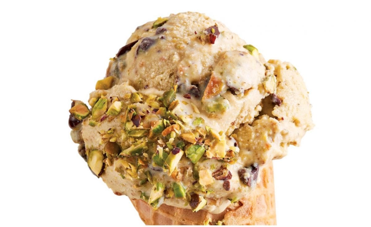 pistachio chip no-churn ice cream