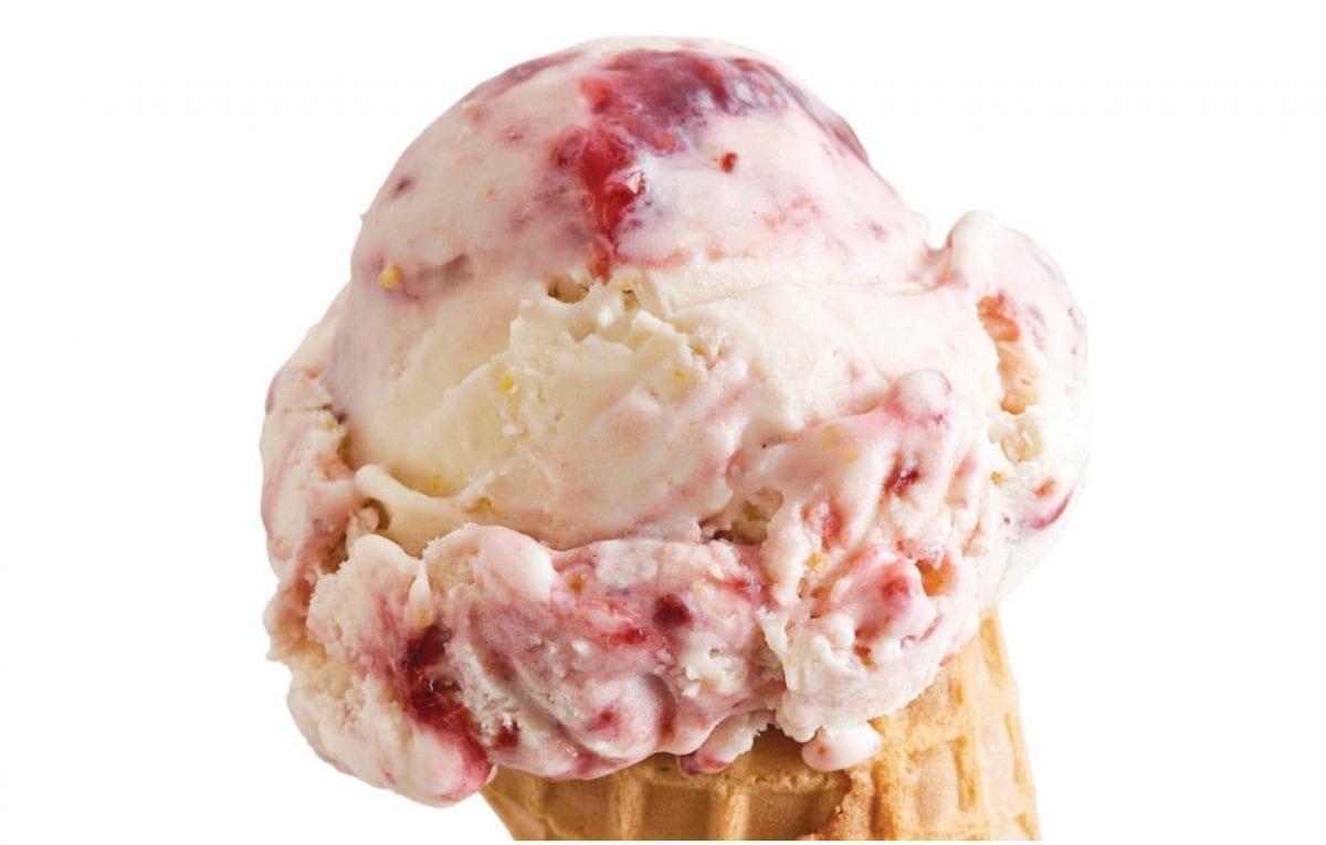 lemon raspberry cheesecake no-churn ice cream